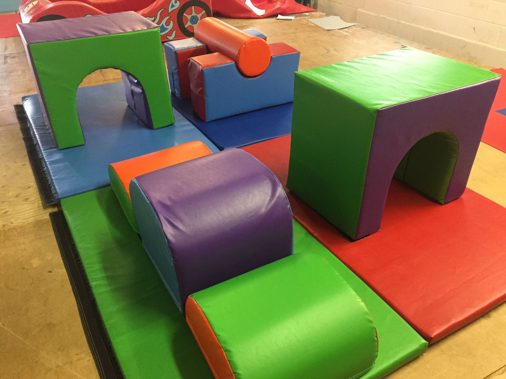 Activity Set on 4 x 5ft x 3ft Mats Make long or Square