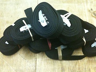 6 x Cam Strap 5 meters x 1inch Black Bouncy castle strap,