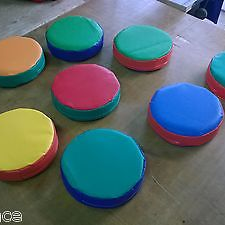 6  x Soft Play Stepping Stones ideal soft play extra. 12inch x 3inch Mixed Colou