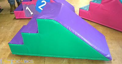 Green / Purple  Soft Play Step & Slide  ideal soft play 120cm x 50cm x 50.c