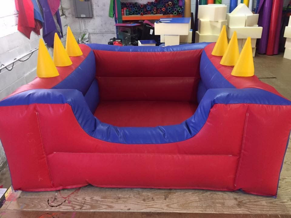 SOFT PLAY BALL POND  INFLATABLE With Air Jugglers  6.5ft x 6.5 ft Any Colours (1)
